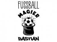 Wandtattoo Fußball Magier mit Wunschname Motivansicht