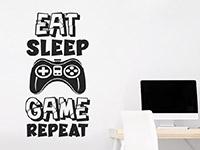 Wandtattoo Eat Sleep Game Repeat