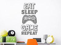 Wandtattoo Eat Sleep Game Repeat im Kinderzimmer