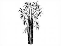 Wandtattoo Moderne Bambus Pflanze Motivansicht