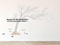 Wandtattoo Boden Zusatzset Großer Baum im Wind | Bild 3
