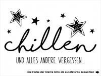 Wandtattoo Chillen mit Sternen Motivansicht