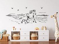 Wandtattoo Wildpferde am Strand | Bild 2