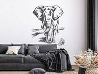 Wandtattoo Elefant | Bild 3