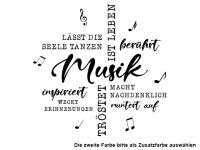 Wandtattoo Wortwolke Musik berührt Motivansicht