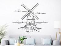 Wandtattoo Windmühle