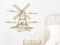 Wandtattoo Windmühle im Schlafzimmer