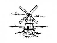 Wandtattoo Windmühle Motivansicht