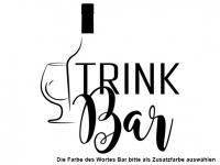 Wandtattoo TrinkBar Motivansicht