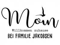 Wandtattoo Moin Willkommen mit Wunschname Motivansicht