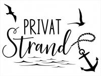 Wandtattoo Privatstrand Motivansicht