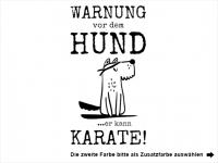 Wandtattoo Warnung vor dem Hund Motivansicht