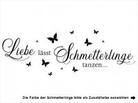 Wandtattoo Liebe und Schmetterlinge Motivansicht