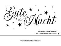 Wandtattoo Gute Nacht und Sterne Motivansicht
