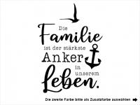 Wandtattoo Die Familie ist der stärkste Anker Motivansicht