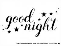 Wandtattoo Good night mit Sternen Motivansicht