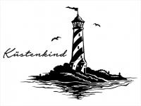 Wandtattoo Leuchtturm Küstenkind Motivansicht