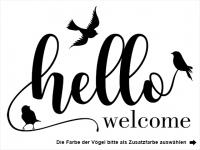 Wandtattoo Hello Welcome Motivansicht