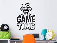 Wandtattoo Game Time im Jugendzimmer