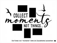 Wandtattoo Fotorahmen Collect moments Motivansicht