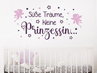 Wandtattoo Süße Träume kleine Prinzessin im Kinderzimmer