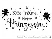 Wandtattoo Süße Träume kleine Prinzessin Motivansicht