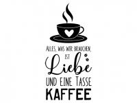 Wandtattoo Liebe und eine Tasse Kaffee Motivansicht