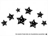 Wandtattoo Sternenzeit Motivansicht