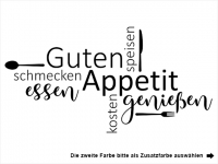 Wandtattoo Guten Appetit Wortwolke Motivansicht