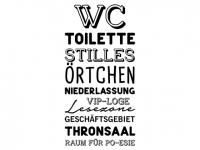 Wandtattoo WC Worte Motivansicht