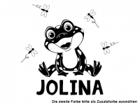 Wandtattoo Frosch mit Wunschname Motivansicht