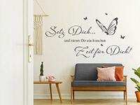 Wandtattoo Zeit für Dich mit Schmetterlingen   Bild 3