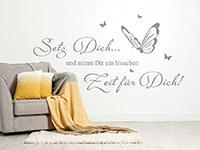 Wandtattoo Zeit für Dich mit Schmetterlingen   Bild 4