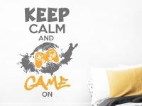 Wandtattoo Keep calm and game on