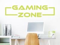 Wandtattoo Gaming Zone auf heller Wand