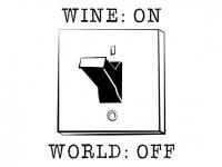 Wandtattoo Wine on World off Motivansicht