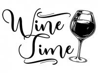 Wandtattoo Wine Time Motivansicht