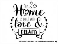 Wandtattoo This home is built with love Motivansicht