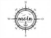 Wandtattoo Moin Kompass Motivansicht