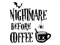 Wandtattoo Nightmare before Coffee Motivansicht
