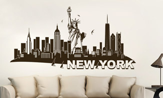 Skyline von New York als Wandtattoo