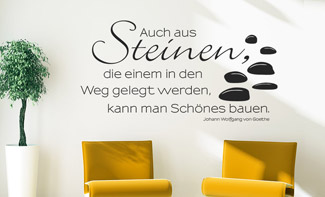 wandtattoo zitat bei sch ne zitate als. Black Bedroom Furniture Sets. Home Design Ideas