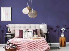 Ideen Für Violette Wände Und Dekoration