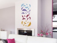 Diese Ideen Passen Zum Coolen Mädchenzimmer. Wandtattoo Federn Mit  Farbverlauf Effekt