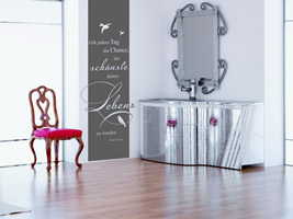 wandtattoo im kosmetikstudio ideen f r das kosmetik studio. Black Bedroom Furniture Sets. Home Design Ideas