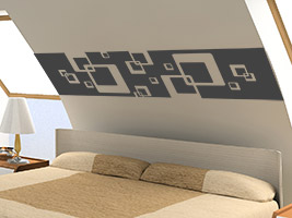 wandtattoo f r die dachschr ge wandtattoos an schr gen. Black Bedroom Furniture Sets. Home Design Ideas