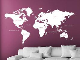 Wandtattoo auf bunter Wand - Tipps und Ideen