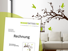 wandtattoo auf rechnung ohne bonit tspr fung reuniecollegenoetsele. Black Bedroom Furniture Sets. Home Design Ideas