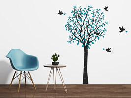 Kinderzimmer wand ideen baum  Wandtattoo Baum - Bunte Ideen für die Wand