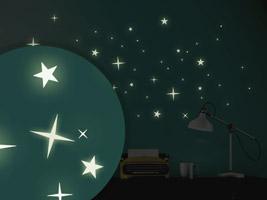 Leuchtsterne ✶ Leuchtende Sterne zum Aufkleben